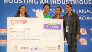 YouthConnekt: Rwandan scoops girls' innovation project award